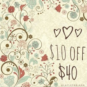 $10 OFF $40 ✨ READ ME